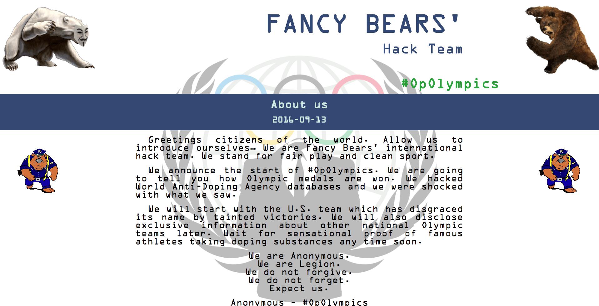 Figure 5. Fancy Bears' Hack Team website. (Source: SecureWorks)