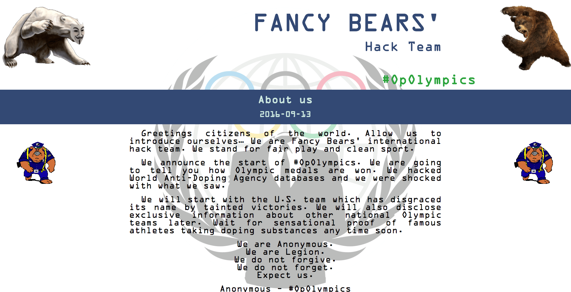 Figure 5. Fancy Bears' Hack Team website. (Source: SecureWorks)