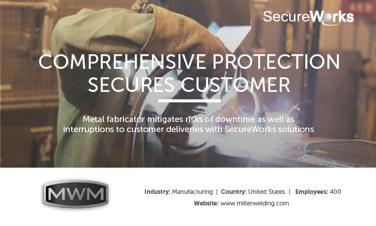 Miller Welding & Machine Company uses MSSP SecureWorks after malware attack
