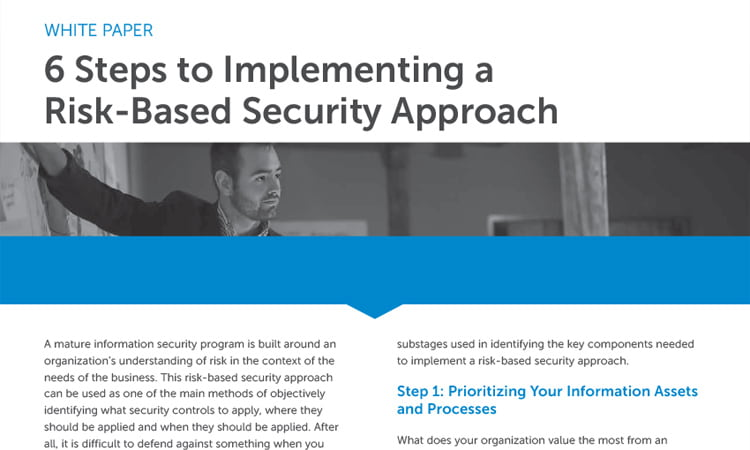 Implementing a risk-based security approach whitepaper